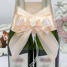 Декоративное украшение для шампанского Fantastic (персиковый)