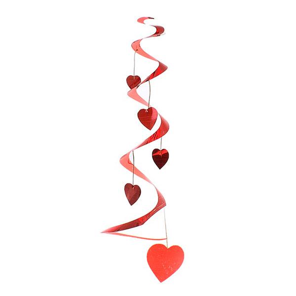 """Подвесное украшение """"Спираль с сердцами"""""""