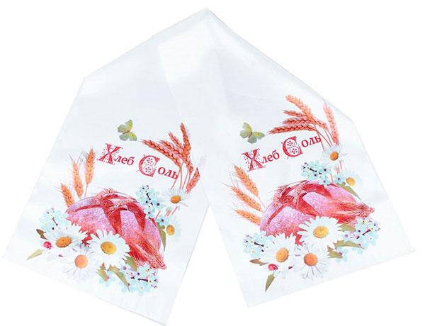 """Свадебный рушник для каравая """"Хлеб-Соль"""""""