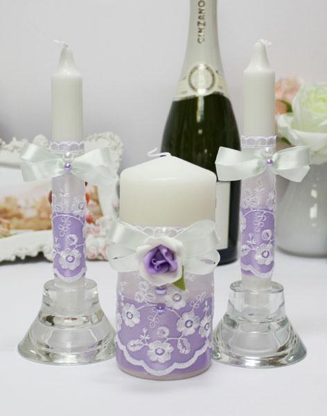 """Домашний очаг + 2 свечи """"Сиреневый изыск"""""""