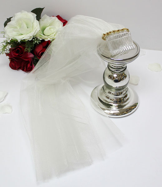 Фата для девичника (айвори)