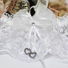Подвязка свадебная Сердечки