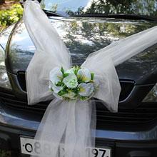 Лента на свадебную машину «Лилии»