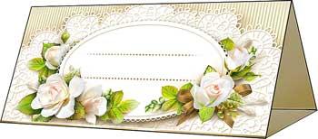 """Банкетная карточка для гостей """"Нежность"""""""