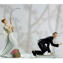 "Свадебная фигурка на торт ""На крючке"" (15 см)"