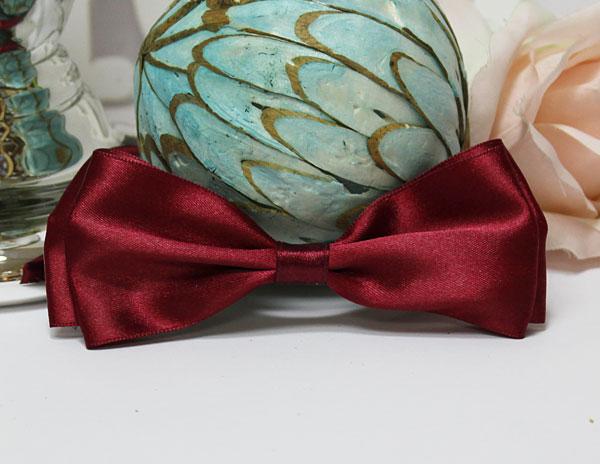 Галстук-бабочка для праздника, мальчишника, фотосессии (бордовый)