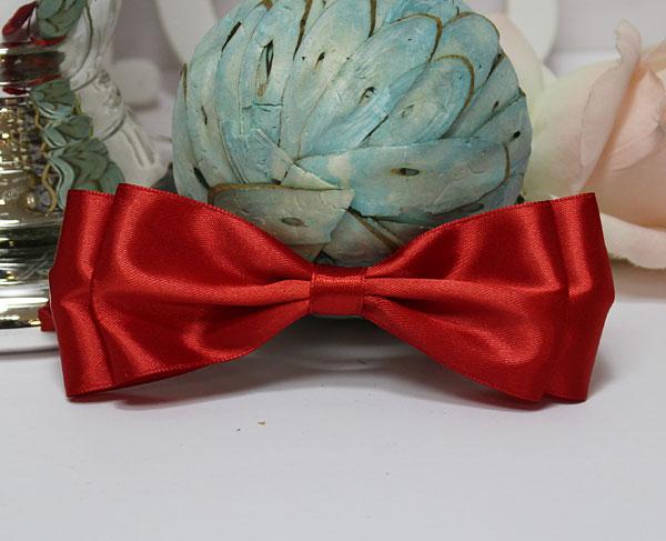 Галстук-бабочка для праздника, мальчишника, фотосессии (красный)