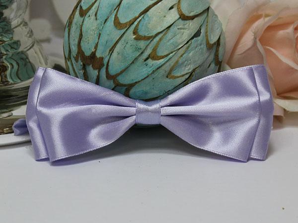 Галстук-бабочка для праздника, мальчишника, фотосессии (сиреневый)