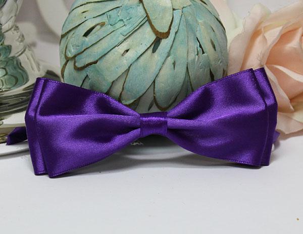 Галстук-бабочка для праздника, мальчишника, фотосессии (фиолетовый)