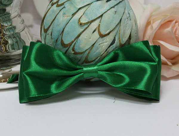 Галстук-бабочка для праздника, мальчишника, фотосессии (зеленый)
