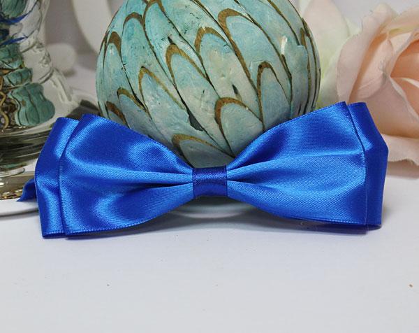 Галстук-бабочка для праздника, мальчишника, фотосессии (синий)