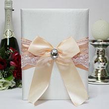 """Папка для свидетельства о браке """"Винтажный шик"""" (персиковый)"""