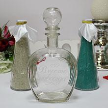 Свадебный набор для песочной церемонии (бел/бирюз)