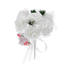 """Букет-дублер для невесты """"Очарование роз"""" (белый)"""