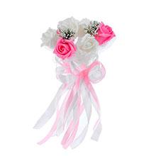 """Букет-дублер для невесты """"Очарование роз"""" (бело-розовый)"""