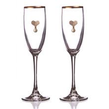 """Свадебные бокалы для молодоженов """"Сердечные узы"""" (2 шт)"""