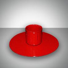 Подсвечник для родительской свечи - круглый, красный  (1 шт)