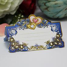 """Рассадочная карточка на свадьбу """"Королевский синий"""""""