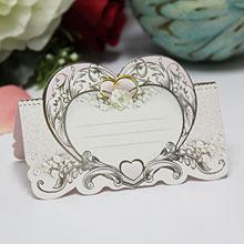 """Банкетная карточка для рассадки гостей """"Сердце"""""""