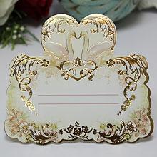 """Банкетные карточки для гостей  """"Лебеди в золоте"""""""