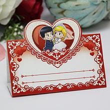 """Банкетная карточка для рассадки гостей """"Love is..."""""""