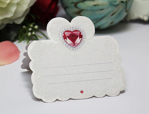 """Рассадочная карточка """"Рубиновое сердце"""""""