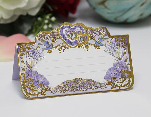 """Рассадочная карточка на свадьбу """"Сиреневые грезы"""""""