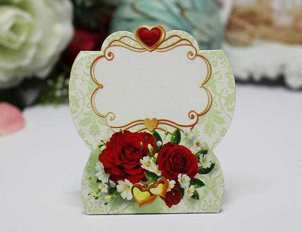 """Банкетная карточка для гостей """"Роскошные розы"""""""