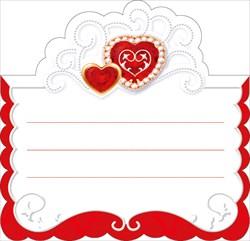 """Рассадочная карточка на свадьбу """"Красные сердца"""""""