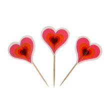 """Пика для канапе """"Сердца"""" (24 шт)"""