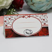 """Рассадочная карточка для гостей """"Пламенные розы"""""""