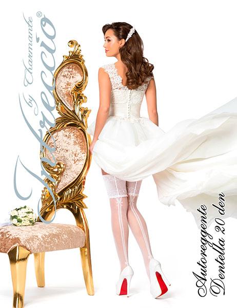 Чулки свадебные Charmante DENTELLA (белый, 20 den)