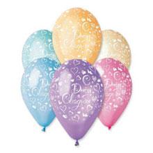 """Набор воздушных шаров """"С днем свадьбы"""" (5 шт, 30 см, без выбора цвета)"""