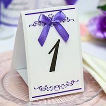 """Карточка с номером стола """"Ренессанс"""" (сиреневый)"""