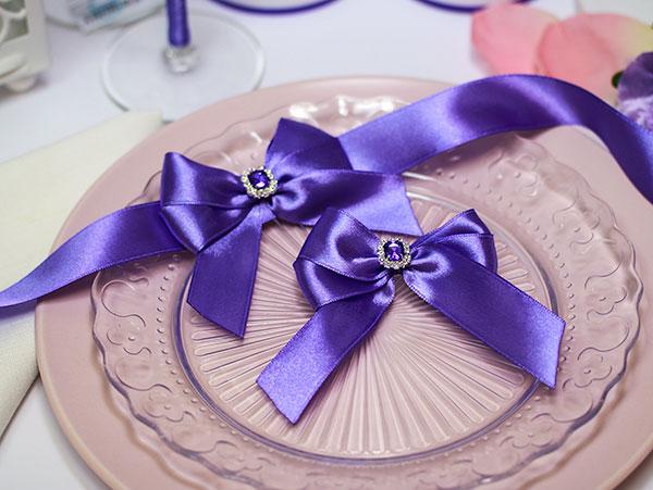 Набор свадебных аксессуаров для свидетелей Ренессанс (2 шт) (сиреневый)