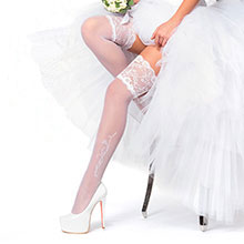 Свадебные чулки Charmante HONEYMOON (айвори, 20 den)