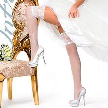Чулки для невесты Charmante PLEASURE (белый, 20 den)
