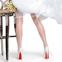 Свадебные чулки Charmante INVITO (белый, 20 den)