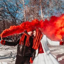 Цветной дым для фотосессии (красный)