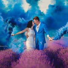 Цветной дым для фотосессии (синий)