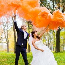 Цветной дым для фотосессии (оранжевый)
