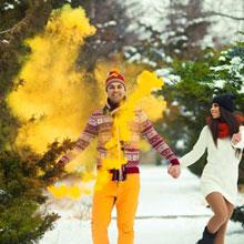 Цветной дым для фотосессии (желтый)