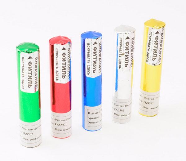Набор цветного дыма для фотосессии (5 шт, цвета - ассорти)