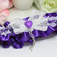 Подвязка для невесты Мармелад (фиолетовый)
