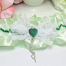 Подвязка для невесты Мармелад (мятный)