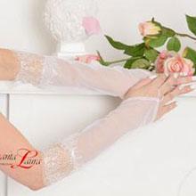 """Свадебные перчатки для невесты """"Шанталь"""" (айвори, 40-42 размер)"""