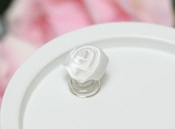 """Пружинка для свадебной прически """"Rose"""" (1 шт, белый)"""