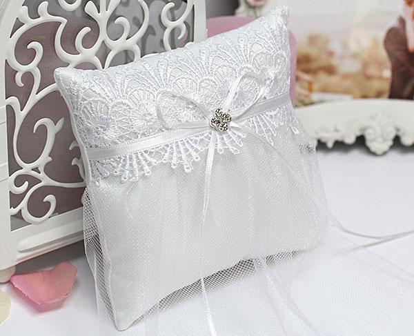 """Подушечка для колец """"Невеста"""" (белый)"""