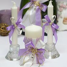 Домашний очаг + 2 свечи Сиреневые грезы (без подсвечников)