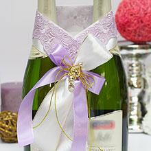 Украшение для шампанского Сиреневые грезы